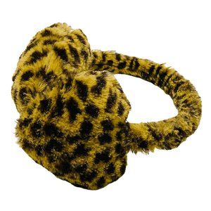Leopard Print Faux Fur Heart Ear Muffs